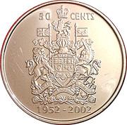 50 cents Jubilé d'or de Elizabeth II (effigie spéciale) -  revers