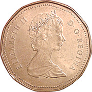 1 dollar Elizabeth II (2eme effigie) -  avers