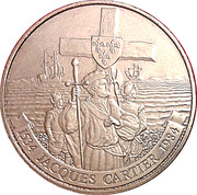 1 dollar Jacques Cartier (450ème anniversaire) -  revers