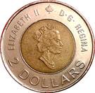 2 dollars Elizabeth II (Le savoir) – avers