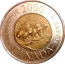 2 dollars Elizabeth II (Le savoir) – revers