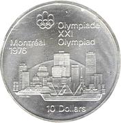 10 dollars Olympiades de Montréal (Vue sur Montréal) -  revers