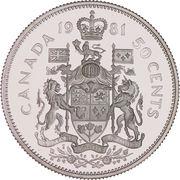 50 cents Elizabeth II (nickel) -  revers
