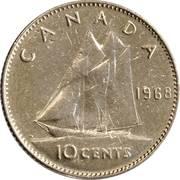 10 cents Elizabeth II (nickel, Ottawa) -  revers
