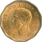 5 cents Georges VI (dodécagonale, tombac) -  avers