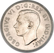 5 cents Georges VI (ronde) -  avers