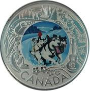3 Dollars Randonnée en traîneau à chiens – revers