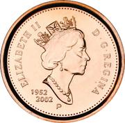 1 Cent - Elizabeth II (Jubilé d'or ; Magnétique) – avers