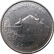 25 cents Manitoba -  revers