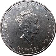 25 cents Territoires du Nord-Ouest -  avers