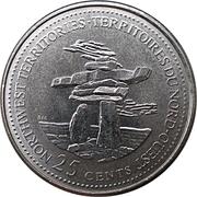 25 cents Territoires du Nord-Ouest -  revers