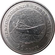 25 cents Terre-Neuve -  revers