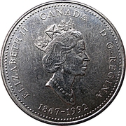25 cents Yukon -  avers