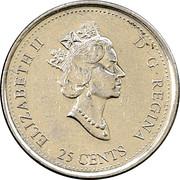 25 cents Millénaire Liberté -  avers