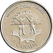 25 cents Millénaire Liberté -  revers
