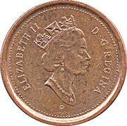 1 cent Elizabeth II (3ème effigie, magnétique) – avers