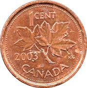 1 cent Elizabeth II (3ème effigie, magnétique) – revers