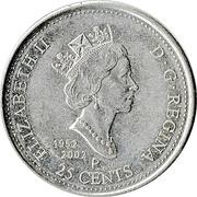 25 cents Fête du Canada -  avers