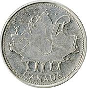 25 cents Fête du Canada -  revers