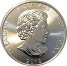 5 Dollars - Elizabeth II (1 oz. Silver Bullion Coinage; Grizzly Bear) – avers