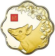 2500 dollars - Elizabeth II (Année du cochon) – revers