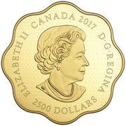 2500 Dollars - Elizabeth II (Year of the Rooster) – avers