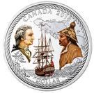 1 Dollar - Elizabeth II (240th Anniversary of Captain Cook at Nootka Sound) – revers