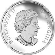 1 oz. Fine Silver Coloured Coin – Butterflies of Canada : Giant Sulphur – Mintage: 10,000 (2015) – avers