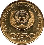 2,5 escudos FAO – avers