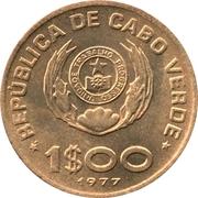 1 escudo FAO – avers