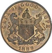 1 penny - Victoria (Cap de Bonne-Espérance, essai) – revers