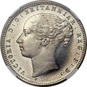 1 penny - Victoria (Cap de Bonne-Espérance, essai) – avers
