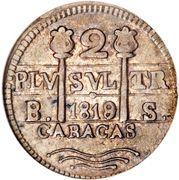 2 Reales (Caracas - Monnayage royaliste) – avers