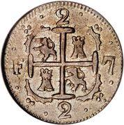 2 Reales (Caracas - Monnayage royaliste) – revers