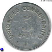 5 centimes - Union des Commerçants - Carcassonne [11] – revers