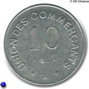 10 centimes - Union des Commerçants - Carcassonne [11] – revers