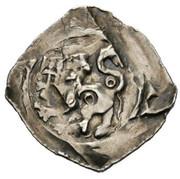 1 pfennig Bernhard von Spanheim (Landstrass) – revers