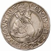 1 guldenthaler Archiduc Charles II Francois d'Autriche (Klagenfurt) – avers