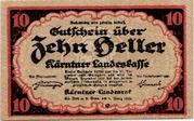 10 Heller (Kärnten) – avers