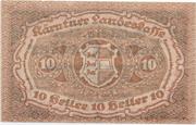 10 Heller (Kärnten) – revers
