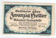 20 Heller (Kärnten) – avers