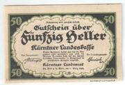 50 Heller (Kärnten) – avers