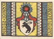 50 Pfennig (Carlow) – revers