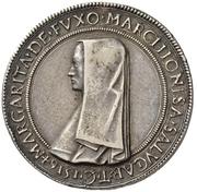 Tallero - Margherita di Foix – avers