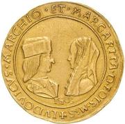 10 Scudi - Margherita di Foix and Ludovico II – avers