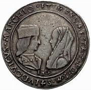 1 Tallero - Ludovico II and Margherita di Foix – avers