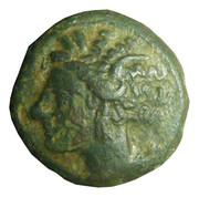 Quart de shekel de bronze – avers