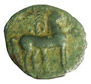 Quart de shekel de bronze – revers