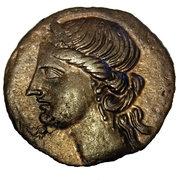 Trishekel de bronze – avers