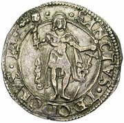 1 Teston - Bonifacio IV Paleologo – revers